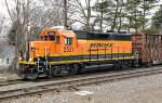 BNSF 2531 is now returning east with her switching duties complete